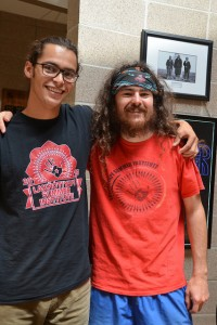 Quinn (left) with good friend Blaze Starkey, another enthusiastic LSI participant.