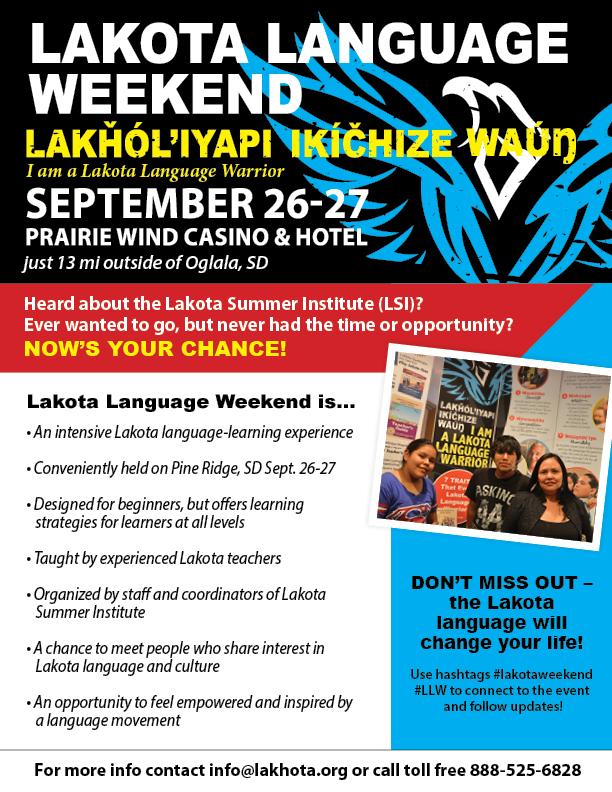 Lakota Language Weekend