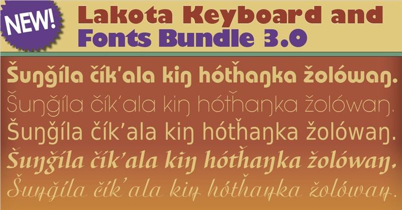 Lakota Fonts